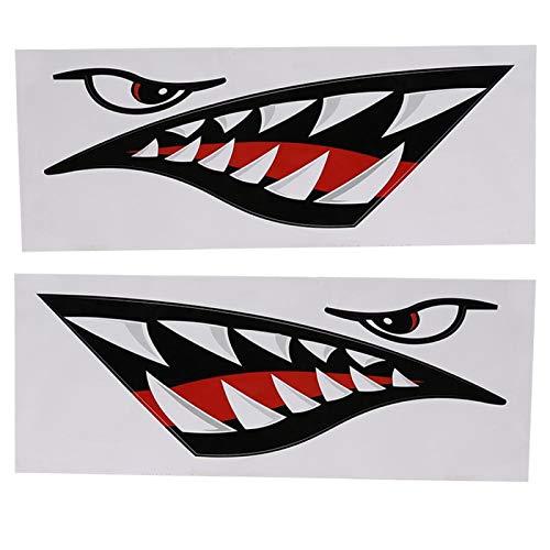 T-Day Etiqueta engomada del Coche, Etiqueta engomada de la Boca de los Dientes de tiburón, 2 uds.