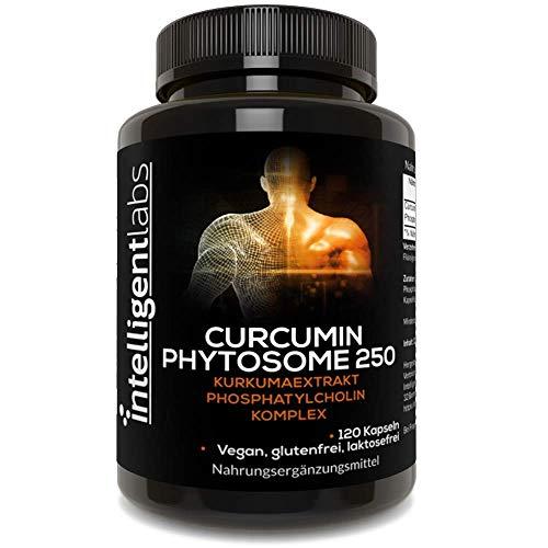 Curcumina fitosoma Meriva 250 mg di Intelligent Labs, con assorbimento migliorato del 2900% rispetto alla curcuma ordinaria, 100% senza soia, 120 capsule vegetali