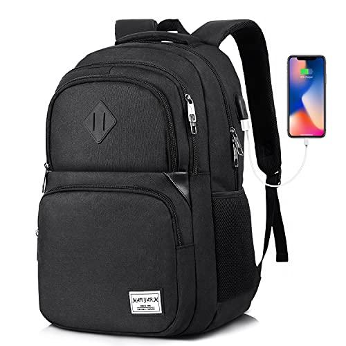 MARYARM Mochila para hombre, mochila escolar para niños y adolescentes, mochila escolar, mochila escolar con compartimento para portátil de 15,6 pulgadas, para el trabajo, la universidad