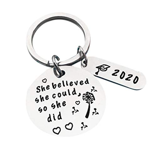Luxeshion 2020 Graduation Gifts Class of 2020 Keychain Congrats Grad Key Ring College Graduation Keyrings Gift College Graduation Party Favor Supplies(E)