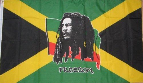 Bob Marley Freedom Jamaika-Flagge 5'x3 '