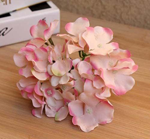 XCVB Kunstmatige filigraanbloem Bruiloft Decoratie Kunstbloemen Lente levendige Grote Hydrangea bruiloft bloemen decoratie, fruitpoeder