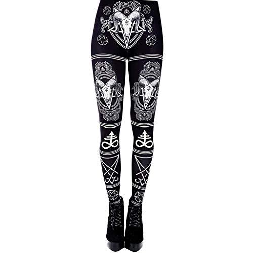 RISTHY Pantalones Gótico Largos Sexy Leggins Mujer Mallas Pantalones Push Up...