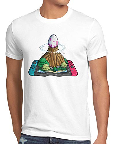 style3 Uovo di Pesce Vento Switch T-Shirt da Uomo Link Principessa Awakening, Dimensione:XL, Colore:Bianco