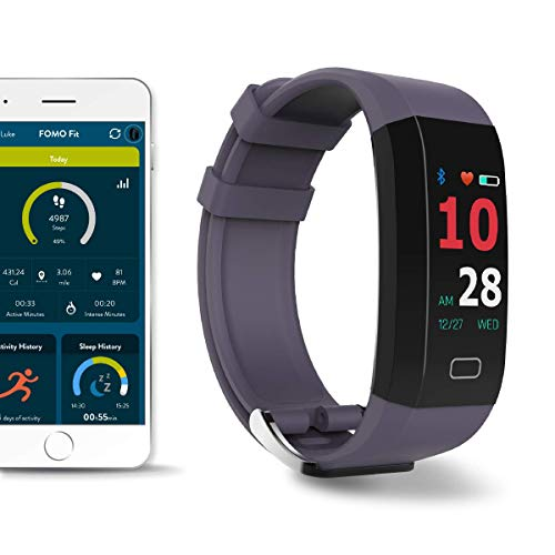 FOMO Fit GPS fitness tracker watch designed in California. Built-in GPS and multi-touch Color Screen. Automatically tracks Heart Rate, HRV, Blood Pressure, Active Minutes, Sleep. Beautiful mobile app.