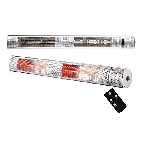 Arebos Infrarot Heizstrahler 2000 W | mit Fernbedienung | IP65 Schutzart | Low-Glare-Technologie | 3 Heizstufen