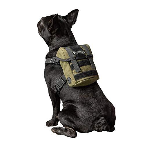 OneTigris Rucksack für kleine Hunde und Welpen, für den täglichen Gebrauch geeignet, Grün