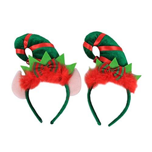 Lurrose 2pezzi Fasce per Cappello di Natale Capelli Banda Testa Cerchietti Capelli Accessori per la...