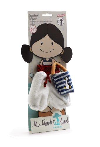 NICI 34939 - Overall mit Handtasche für Puppe Minilotta, 30 cm