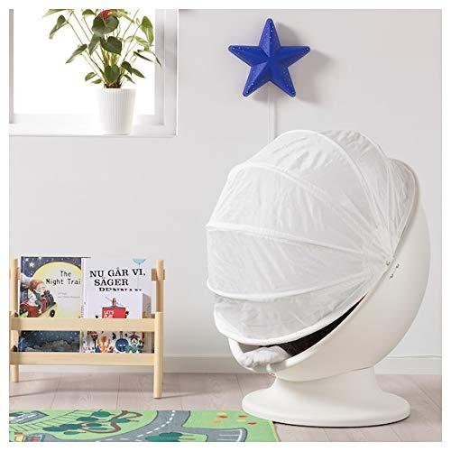IKEA PS LÖMSK Sillón giratorio blanco rojo 59x62x75 cm duradero y fácil de cuidar. Sillones infantiles. Sillones y chaise longues. Sofás y sillones. Muebles respetuosos con el medio ambiente.