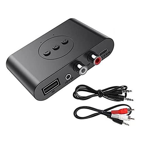 Selotrot Adaptador de audio para receptor de audio, compatible con sistema de sonido de transmisión Bluetooth para altavoces