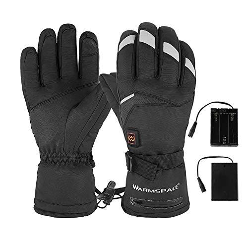 CLHCilihu Uppvärmda pekskärmshandskar, elektriska värmevantar 5-växlad temperaturkontroll vattentäta för vinter skidåkning skridskoåkning män kvinnor, XL