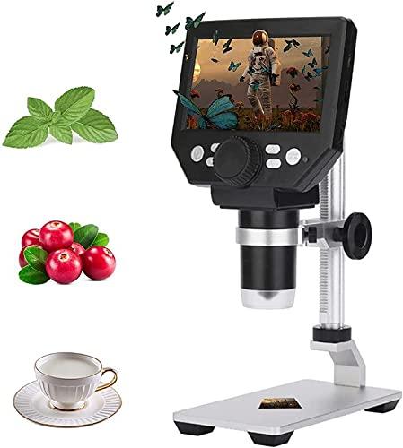 Microscopio Digitale,KOSIEJINN 4.3 Pollici 10 Milioni di Pixel Microscopio LCD Ingrandimento 1000X,Supporta la Scheda di 64G,Compatibile con Windows e MacOS,2600 mAh Ricaricabile Battery