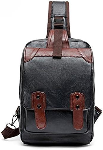 Farbn e Brusttasche M lichen Freizeit Umh etasche M lichen Messenger Rucksack (Farbe   schwarz)