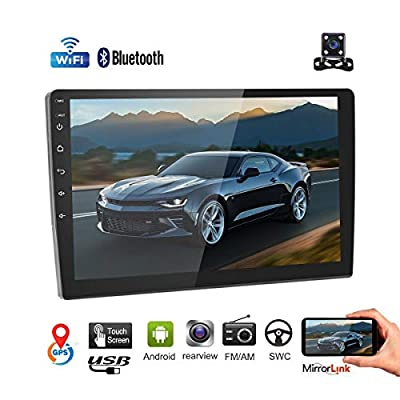 """Car Stereo Double Din Car Radio Android 8.1 Audio 9""""2.5D HD Touch Screen in Dash Car MP5 Player with Bluetooth GPS Navigation WiFi FM/AM Radio Support Mirror Link SWC Dual USB + Rear View Camera"""