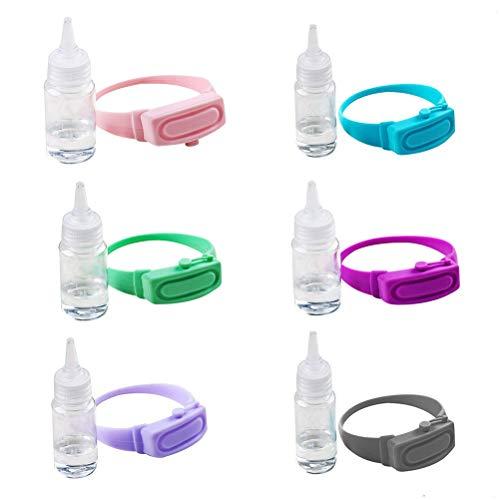 QACFD 6 pièces désinfectant pour Les Mains désinfectant sous-Emballage Bracelet en Silicone...