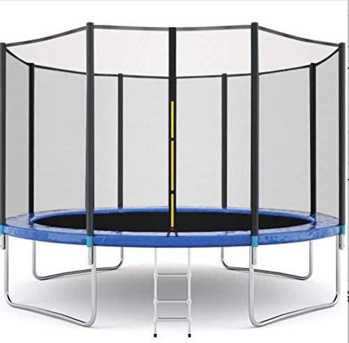 LETIN Trampoline avec filet de sécurité pour enfants, tapis de saut et rembourrage de couverture de ressort, trampoline d'extérieur 10FT 12FT 14FT 16F, 4 pieds en U de 3 m avec escalier.