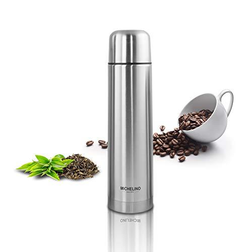 Thermoskanne Vacuum-Isolierfalsche 0,75 Liter Edelstahl BPA-Frei mobiler Kaffeebecher, Tee Kafee Thermosflasche Kaffeebecher to go