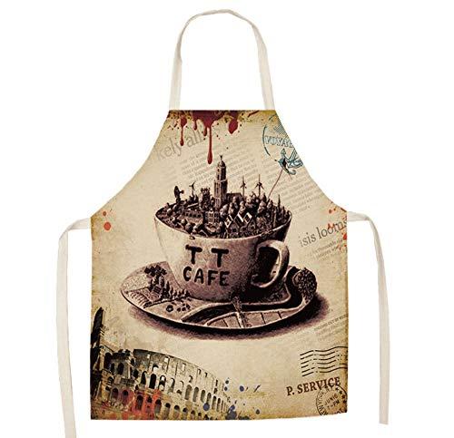 JZZCIDGa Weiche Baumwolle Leinen Schürze Tasse Küche Kochen Kleidung Geschenk Für Frauen Chef Einweihungsparty Kochen Restaurant Arbeit BBQ Gartenarbeit Wohnkultur