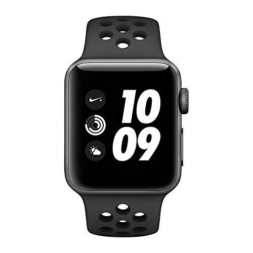Apple Watch Series 3 Nike+ GPS Aluminium 38mm grau mit Sportarmband anthrazit/schwarz - MTF12ZD/A