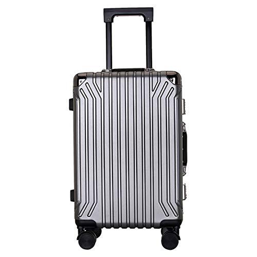 XIANGSHAN PC Material Simple Trolley Case, Estuche de Caja con Forma de Caja, Roller Walking Rolling Box, 20'24' Pulgadas (Color : Red, Size : 24inch)