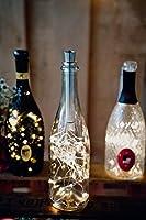 【Lichterkette mit Metall-Korken】Flaschenlicht mit Metall-Korken aus 100% Aluminium und Premium LEDs für eine lange und nachhaltige Nutzung. 【Flaschenlichterkette mit Batteriebetrieb】Verwendung von AAA-Batterien (nicht inklusive) garantieren eine lang...