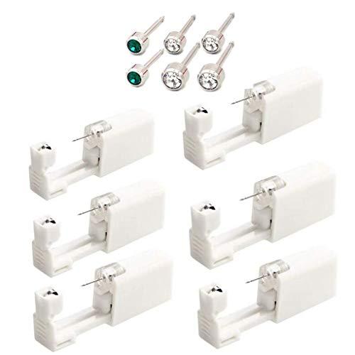 6 st/set Ear Stud Piercing Tool Själv örat hålet Piercer Engångs Kit skönhet verktyg
