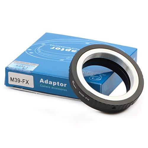 Pixco Leica M39 Adaptador de lente a Fujifilm X Mount Ring para cámaras Fujifilm X-A5 X-A20 X-A10 X-A3 X-A2 X-A1 X-T2 X-E3 X-E2S X-E2 X-E1 X-T100 X-T10 (M39-Fuji FX)