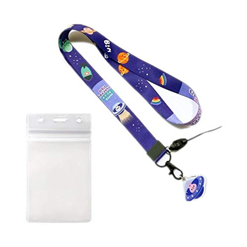 1 cordón para el cuello con soporte para tarjeta de identificación para exposiciones de oficina, correa para el cuello de conejo de dibujos animados de la escuela para llaves de teléfono