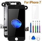 FLYLINKTECH Pantalla para iPhone 7 4.7 '',Táctil LCD de Repuesto Ensamblaje de Marco Digitalizador,cámara Frontal,Sensor de proximidad,Altavoz y Herramientas (Negro)