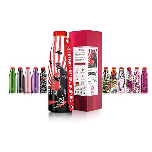 Bboom Botellas de acero inoxidable sin BPA   Botella térmica con aislamiento al vacío de doble pared   520 ml