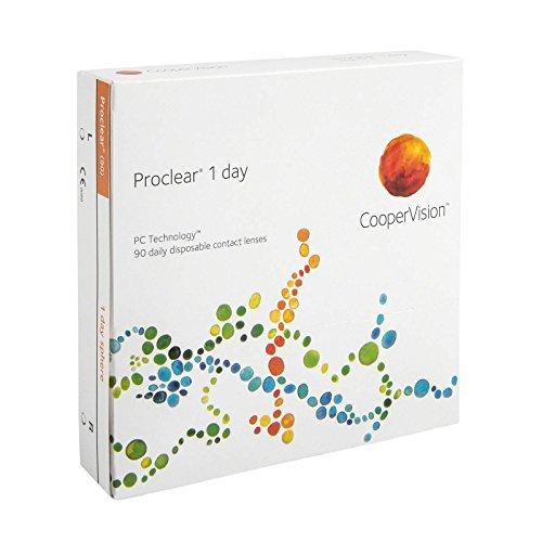 Proclear 1-Day - Lentes de contacto esféricas diarias (R 8.7 / D 14.2 / -7.5 Diop), Pack de 90 uds.