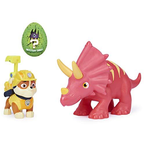 Pat'Patrouille Mission Dino - Ensemble de Figurines Rubble et Un Dinosaure, pour Enfants à partir de 3 Ans