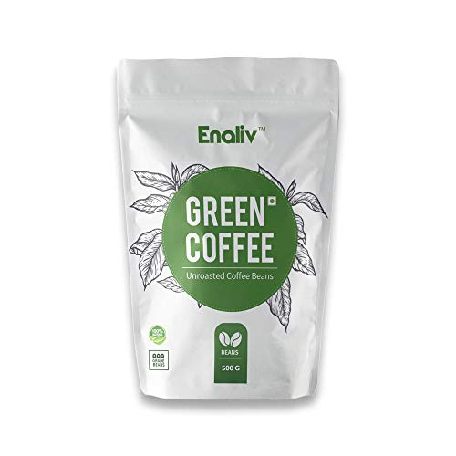 Enaliv Organic AAA Grade Arabica Green Coffee Beans For Strengthening Immunity, Detoxification & Weight Loss – 500 Grams (Pack of 1)