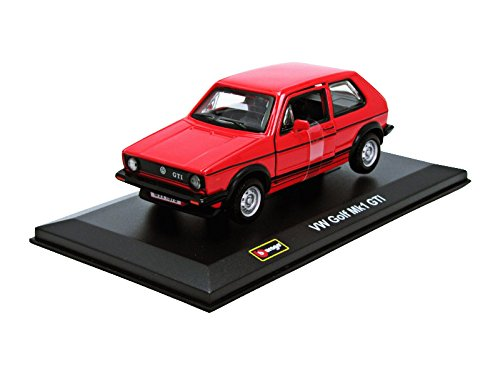 Bburago 43205 Coches Modelo 1979 VW Golf GTI 1, Rojo, Escala 1:32