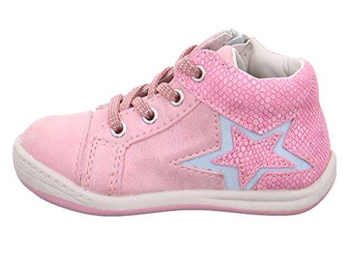 Greenies 125484, Chaussures premiers pas pour bébé (fille) rose rose bonbon - rose - rose bonbon,