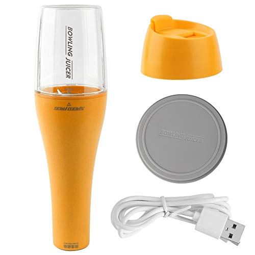 350ml Portable USB Rechargeable Juicer Extractor Blender for Juice Milkshake Personal Size Blender Shakes and Smoothies Mini Jucier Cup with 2000mAh USB Rechargeable Batteries(yellow)