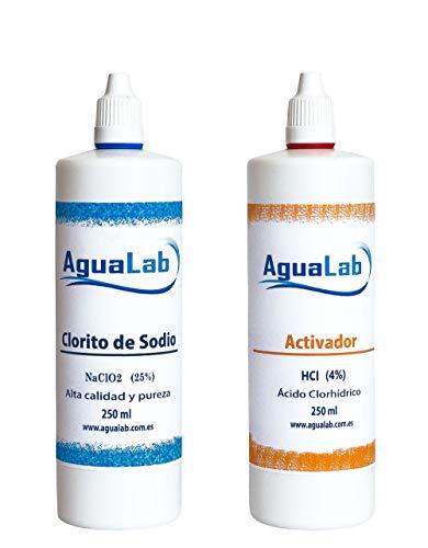 """NOTA LEGAL: - Kit para la Fabricación de Dióxido de Cloro 250 ml. (No apto para consumo humano)""""según recomiendan los centros sanitarios"""""""