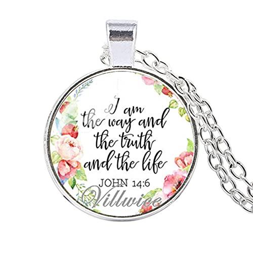 Yo Soy El Camino La Verdad Y La Vida Juan Evangelio Citado Verso De La Biblia Collar Jesucristo Joyería Cristiana Regalo Fe