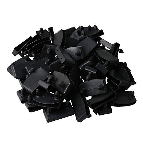 50 Stück BQLZR Kunststoff Single End Kappen Halter Ersatz zum Halten und Sichern von Holzlatten auf dem Bettboden