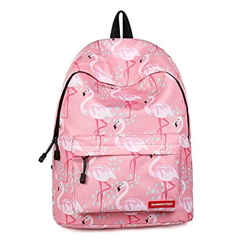 ZBK Mochila para portátil con diseño de animal doméstico para estudiantes, niñas, 4 colores, Flamenco rosa (Rosa) - ZBK4891
