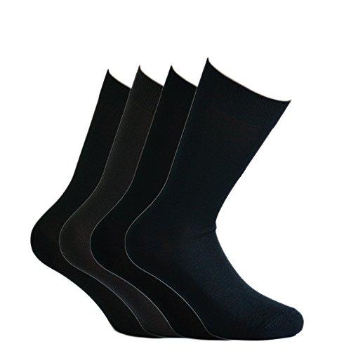 Fontana Calze, 8 paia di calze CORTE in puro cotone Filo di Scozia elasticizzate, confortevoli e rinforzate su punta e tallone. Prodotto Italiano. ASSORTITO - TG 11,5/12(42/44,5)