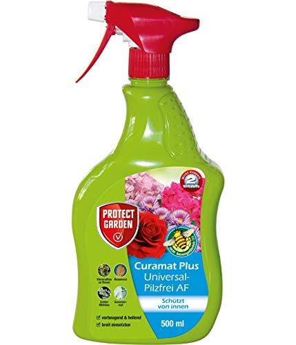 PROTECT GARDEN Curamat Plus Universal-Pilzfrei AF (ehem. Bayer Garten Baymat), anwendungsfertiges Spray gegen Pilzkrankheiten an Rosen, Zierpflanzen und Gemüse, 500 ml