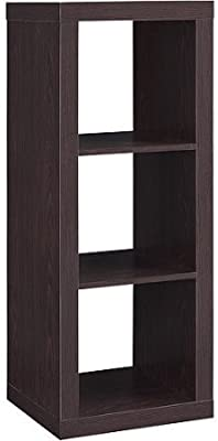 Better Homes And Gardens 3 Cube Organizer Storage Bookshelf Espresso