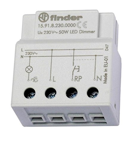 LED Dimmer 230V max 50W dimmbar Dosendimmer für Tasterschaltung passen für GU10 LEDs und 230V LEDs