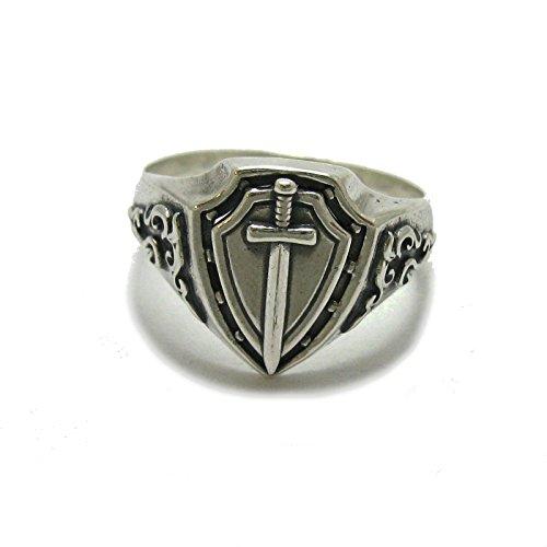 Sterling Silber Herren ring massiv 925 Schwert R001787