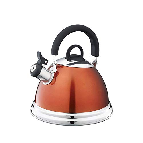 XIAOCHEN Hervidor de Cocina de Gas de Acampar Hervidor de té   Kettle de té silbando   Hervidor de té de Acero Inoxidable  3L  Adecuado para diversas Estufas.