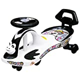 Tender Care Twist and Swing Magic Car/ Swing Car with Back Support, Steering Music and Lights for Kids Above 3 Years, Multi-Color