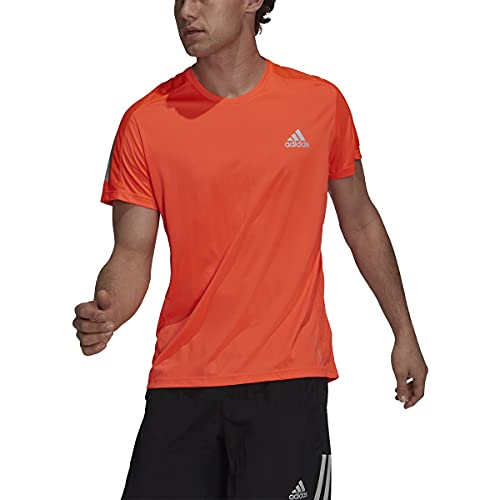 adidas Mens Own The Run Tee Solar Red X-Large