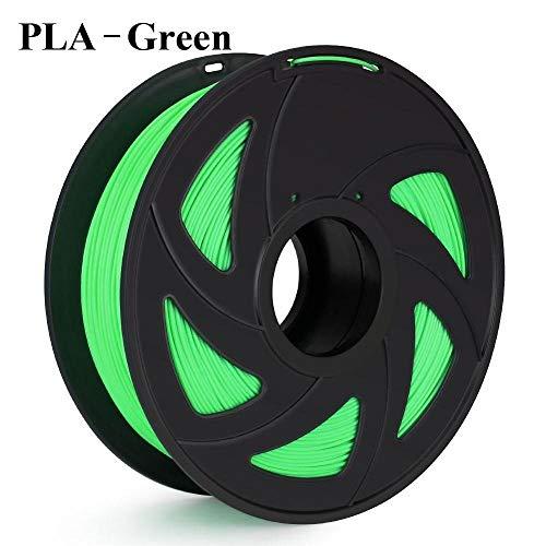 SDFW Exceptionnel 3D Imprimante Filament PLA ABS de 1 kg Nylon Bois TPU PETG Carbone ASA PC 3D en Plastique Impression Filament dureté (Color : PLA Green)